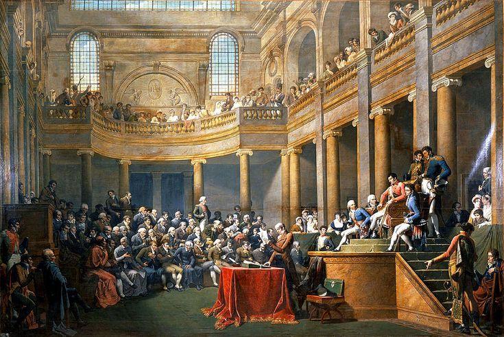 """""""Consulta de la Republique Cisalpine"""". (by Nicolas-André Monsiau)."""