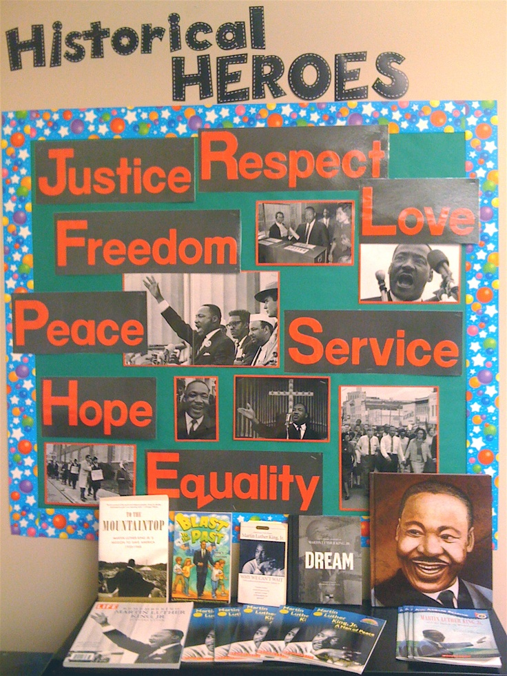 Bulletin board for either black history month, with a few tweaks, or martin luther king day