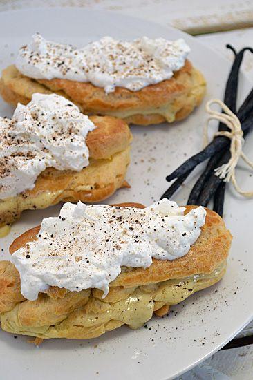 Pate De Choux with Vanilla Bean Custard and Coconut Maple Cream: Pure and Simple