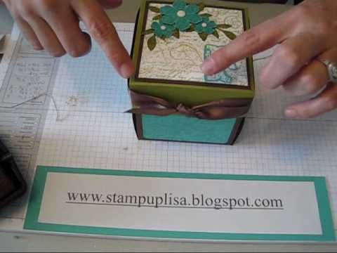 Inside, Outside, and Lid of Explosion Box, part 3 Stampin UP - YouTube