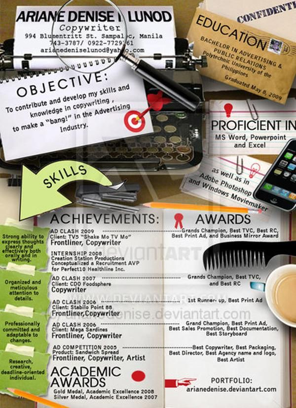 385 best CAREER - RESUMES \ CV 30 images on Pinterest Resume - copywriter advertising resume
