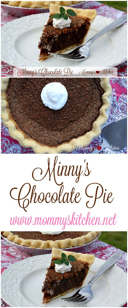 Mommy's Kitchen - Recipes from my Texas Kitchen!!! This pie is absolutely delicious!!! CHOCOLATE PIE!