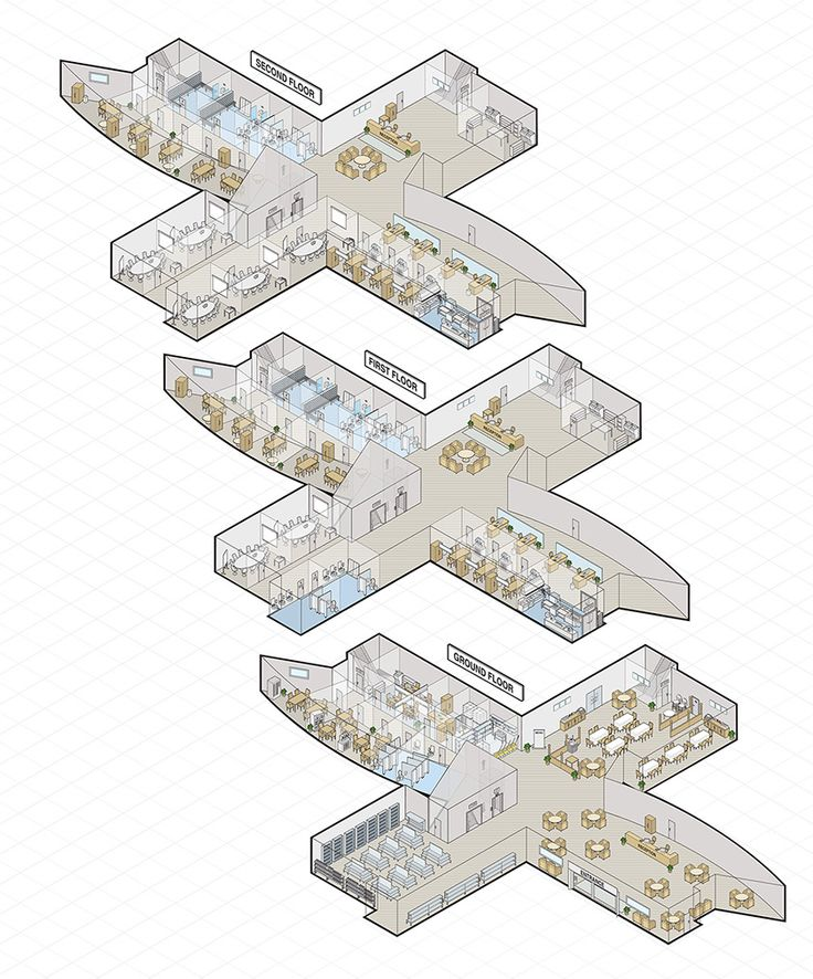 Office Building Floors Vector Isometric