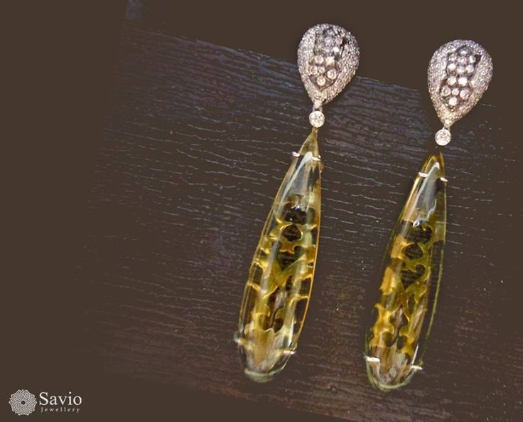 Being unique is better than being perfect! Some like you are both these things and so are our glassy danglers. See more alluring designs on http://www.saviojewellery.com/  #Necklace #Earrings #Savio #Jaipur #Jewellery #Diamonds