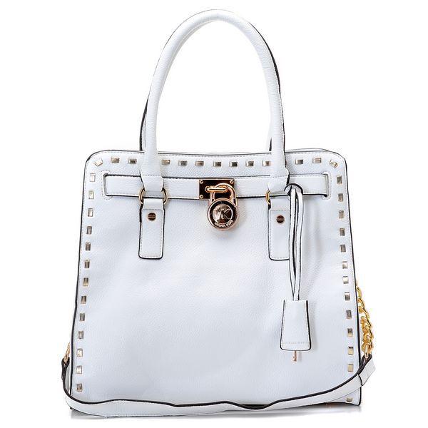 Michael Kors bags and Michael Kors handbags Michael Kors Hamilton  Whipstitch Large Tote Vanilla