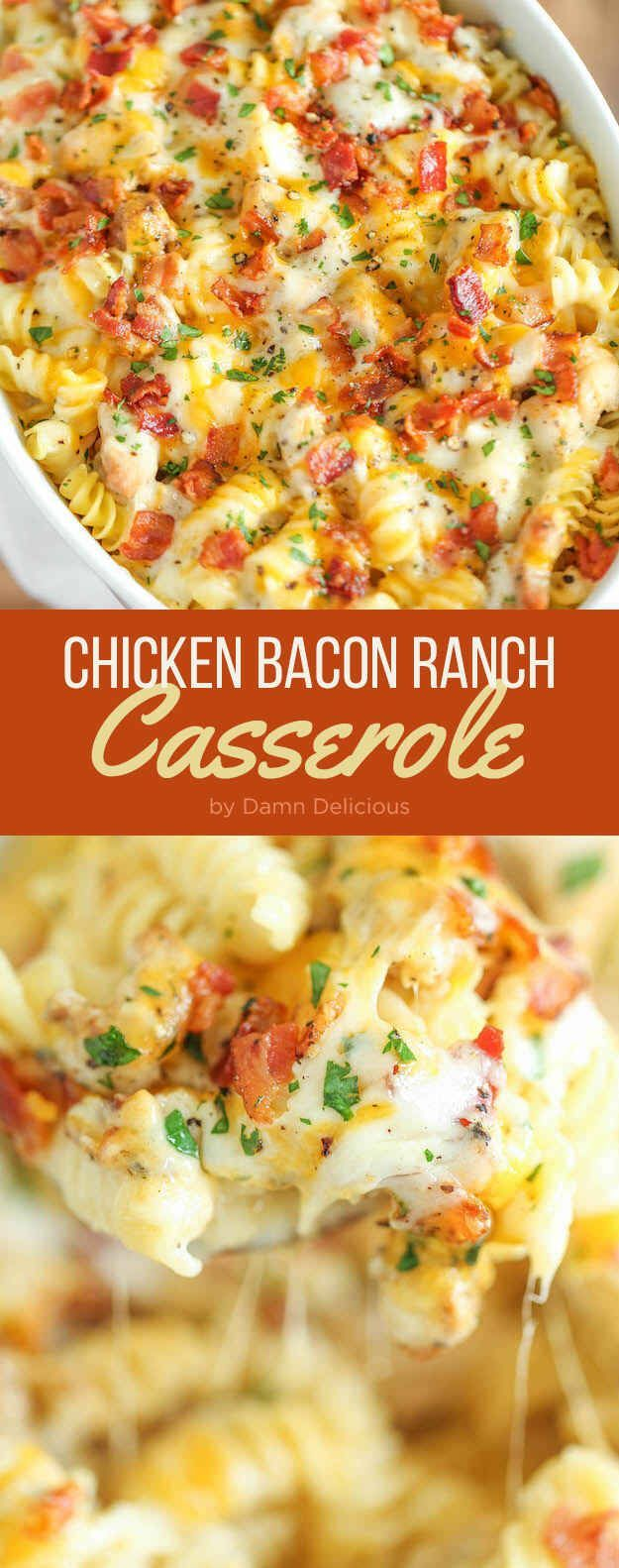 Chicken bacon ranch casserole                                                                                                                                                      More