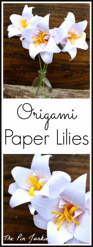 The Pin Junkie: Origami Paper Lilies