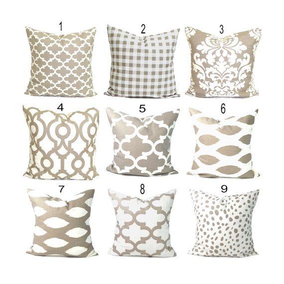 pillows decorative pillow throw pillow accent pillow euro sham couch pillow tan pillow pillow sham ecru cushion neutral