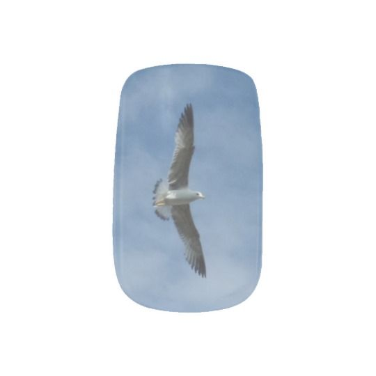 #zazzle #girl #woman #gift #giftidea #Nail #Art #Minx®  #Flying  #Seagull