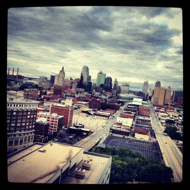 A View Of Downtown Kansas City From The 24th Floor Of The