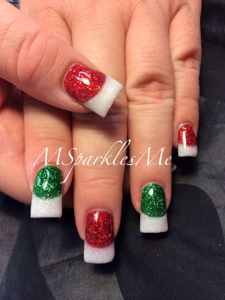 Christmas Nail Art French Manicure Red With White: 25+ Best Ideas About Red Christmas Nails On Pinterest