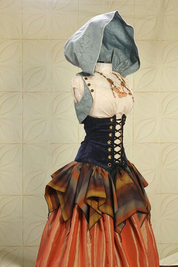 후드 코르셋 드레스