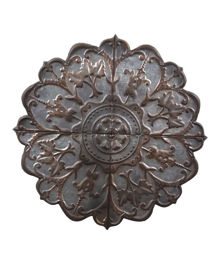 Take a look at this Stamped Rosette Galvanized Tin Wall Décor today!