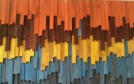 One of our product: creative colorful wall art. Material: leftover small woods. More info, e-mail to: dbestfurni@yahoo.com