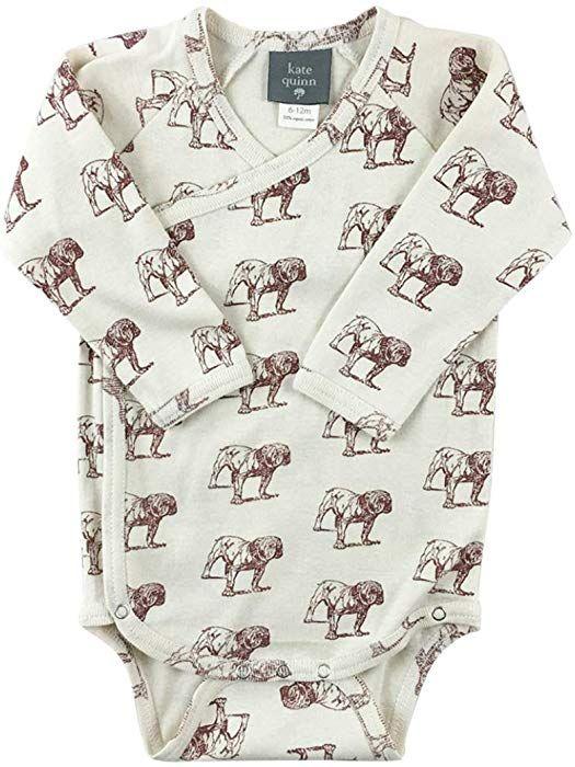 c1ae11efd Amazon.com: Kate Quinn Organics Unisex-Baby Long Sleeve Kimono Bodysuit,  0-3M (Chateau): Clothing
