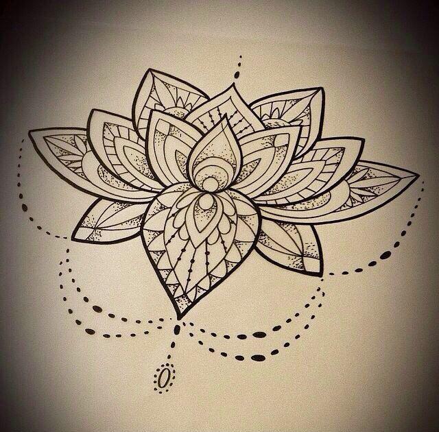 Lotus Mandala Tattoo Sketch