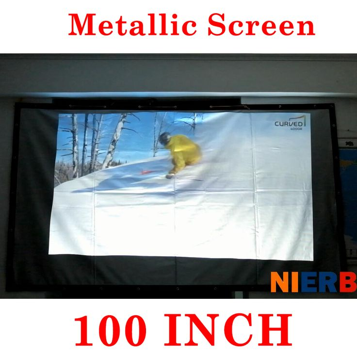 High brightness 100inch portable metal projection screen wall monunted 220x120cm viewing scen use for entertainment #Affiliate
