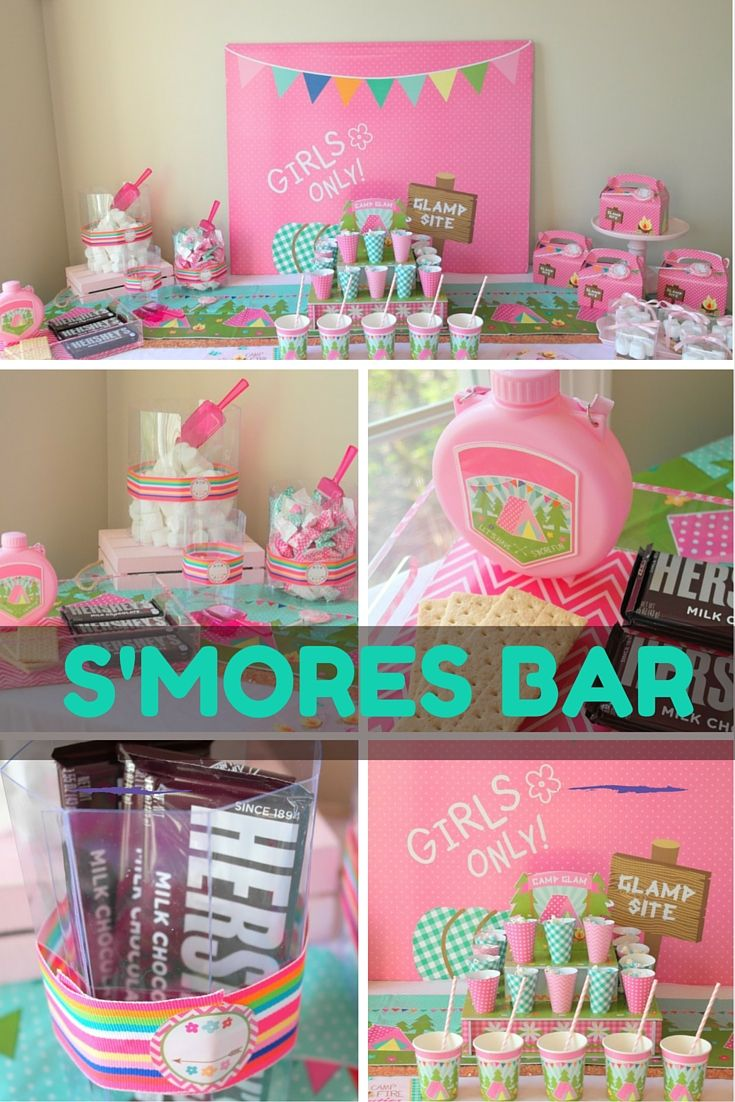 No Camper Can Resist A Fabulous DIY Smore And Candy Buffet Every Glamping Slumber Party IdeasSlumber