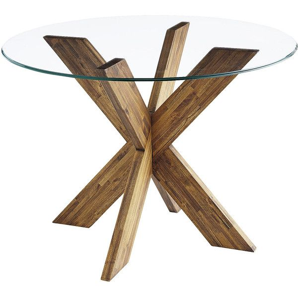 Glass Wood Dining Table Round best 25+ glass round dining table ideas on pinterest | glass