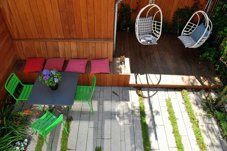 Carolien Barkman - Tuinen kleine tuin met hangelementen