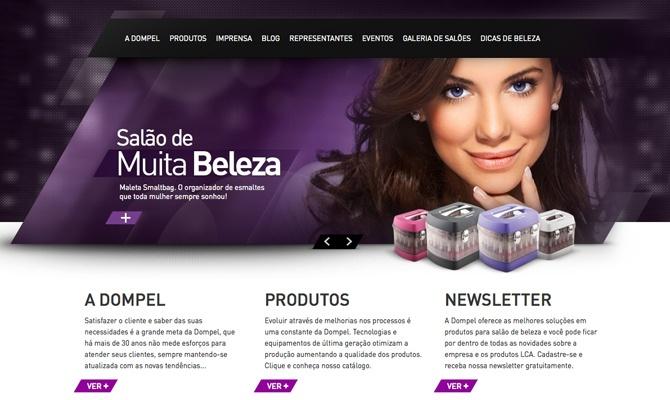 Web site desenvolvido para a empresa Dompel que atua no ramo de móveis e produtos para salões de beleza.