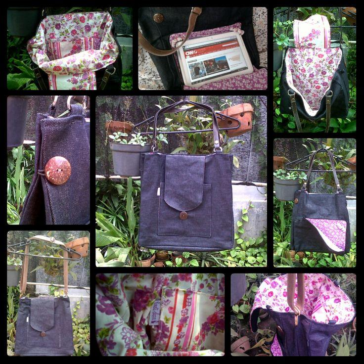 Denim Bag (with pocket for tablet)