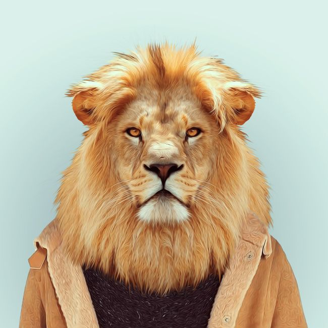Des Magnifiques Portraits D'animaux Sur Des Bustes D'humains Par Le Photographe…
