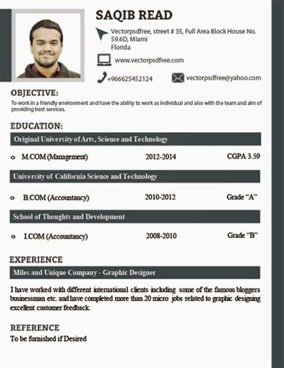 Best Cv Images On   Cv Template Resume And Free