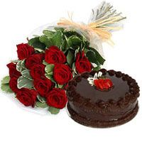 Order online birthday flower bouquets delivery in india - Buy Birthday Bunch of Red Roses and Chocolate Cake to gift someone you love most on their birthday    india flowers, flowers of india, online flowers, flower bouquet arrangement, bouquet delivery mumbai, birthday flower bouquet, online flower delivery in india, online cake and flower delivery in delhi