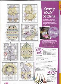 Easter cross stitch chart