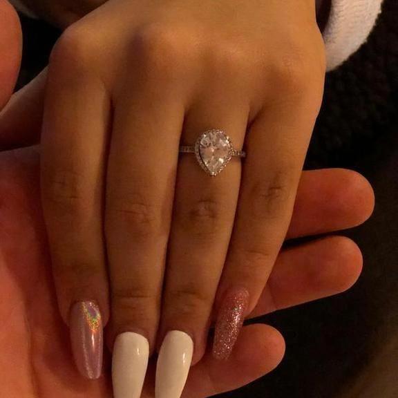 3fc88df8487ed Radiant Teardrop Ring, Clear CZ | PANDORA Jewelry US #pandorajewelry ...
