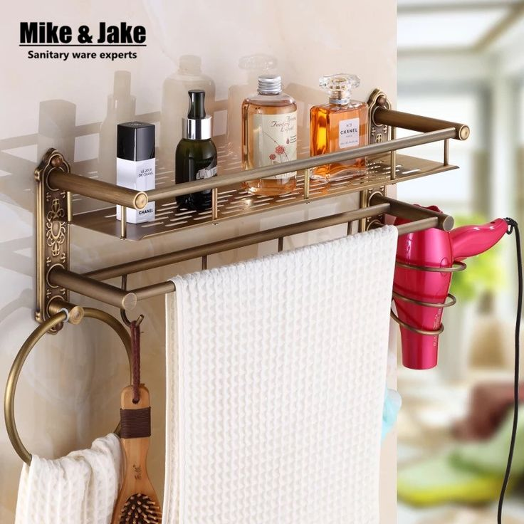 Bathroom antique brass shelf bathroom shelf with hair shelf towel holder bathroom shelf with hooks basket for bathroom holder
