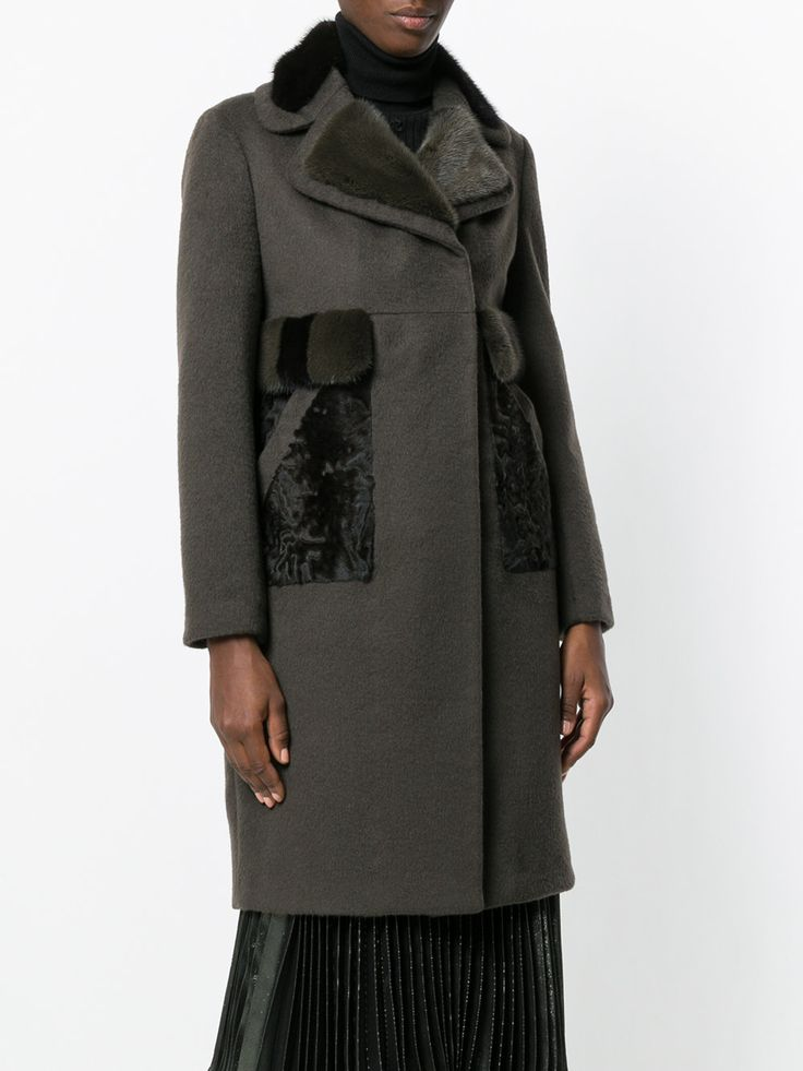 Blancha mink fur detail coat