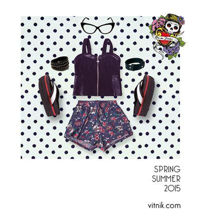 Look Retro Te proponemos este outfit con reminiscencias del estilo rockabilly, muy sexy y chic... ¿Tenés prendas con esta onda?
