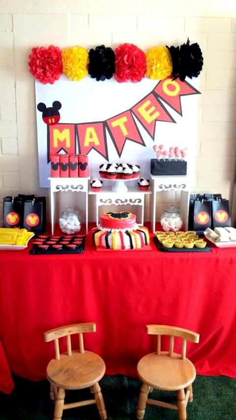 Mickey Mouse Party //candy bar // candy buffet // Mickey Mouse