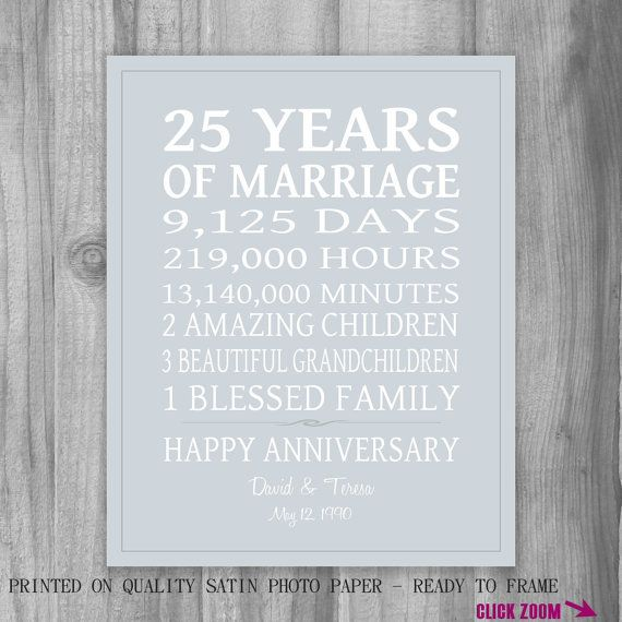 25th Wedding Anniversary Quotes: 1000+ Ideas About 25th Anniversary Gifts On Pinterest
