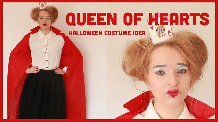 Queen of Hearts from Alice in Wonderland Halloween costume & make up inspiration