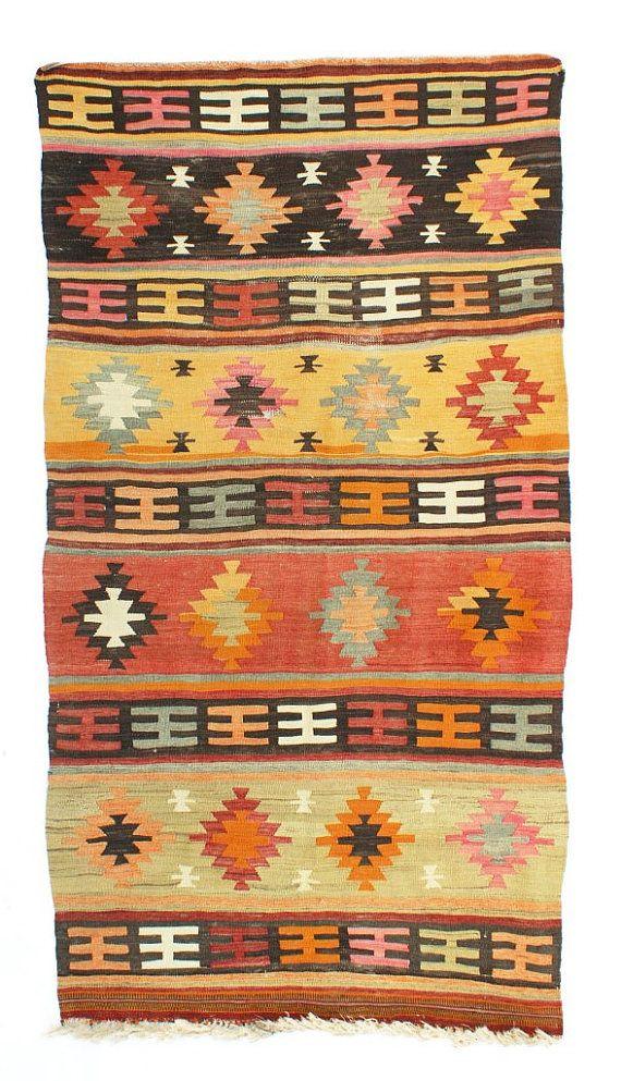 Shipping Free!! Taşpınar Kilim, Turkish Tribal Kilim, Flatweave Kilim Rug, Decorative Kilim, Wool Kilim Textile