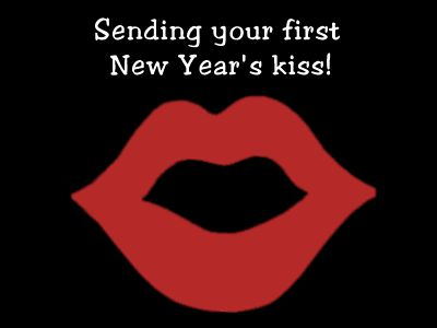 happy new year kiss | Happy New Year Graphics, Comments, Scraps, Pictures for Myspace ...