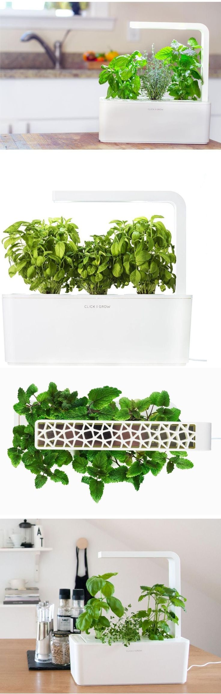 Hydroponic Systems 178991: Smart Indoor Herb Garden Grow Kit W Led Grow  Light, Self