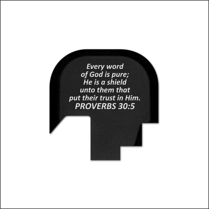 REAR SLIDE PLATE FOR SW M&P SHIELD - PROVERBS 30:5