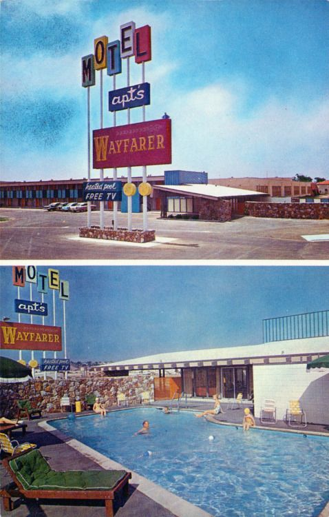 1950's, Wayfarer Apartments & Motel San Diego, California