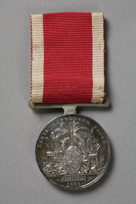 1842 Treaty of Nanking medal.  On 29 August 1842, British representative Sir Henry Pottinger and Qing representatives, Qiying, Yilibu, and Niujian, signed the treaty. It consisted of thirteen articles and ratification by Queen Victoria and the Daoguang Emperor was exchanged nine months later.  The fundamental purpose of the treaty was to change the framework of foreign trade which had been in force since 1760 (Canton System).