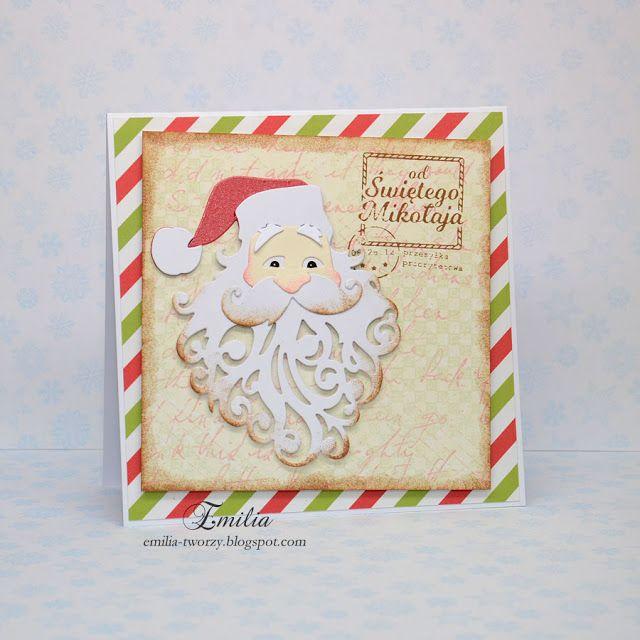 Emilia tworzy: Kartka od Świętego Mikołaja/Christmas card/Xmas