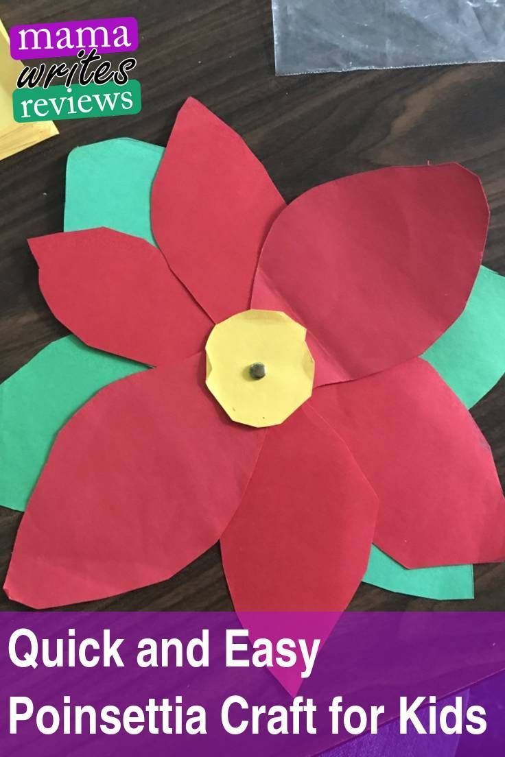 Quick And Easy Poinsettia Craft For Kids Crafts For Kids
