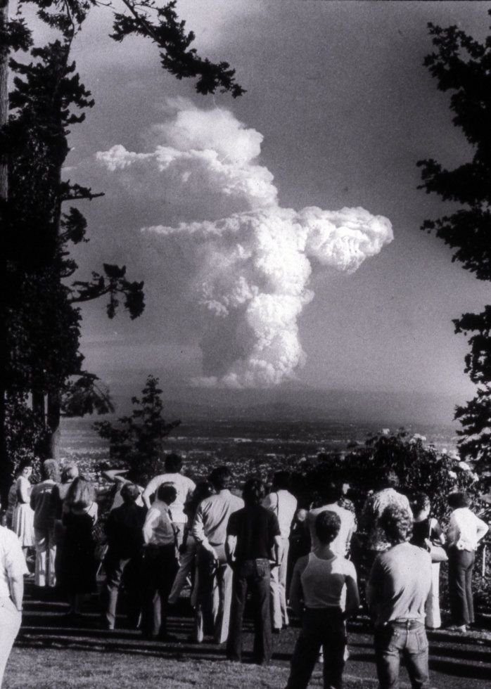 Mt St Helens from Pittock Mansion http://www.oil-electric.com/