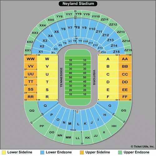 2014 tn vols images | Neyland Stadium Seating Chart