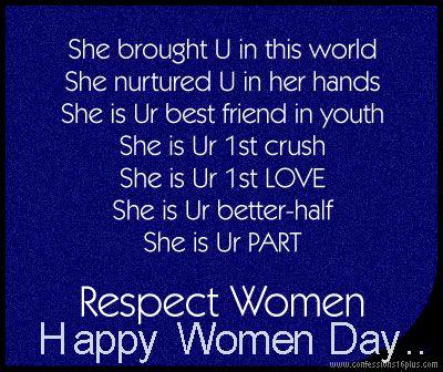 happy women day..