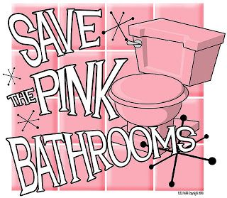 Save The Pink Bathrooms on striped wallpaper for bathrooms, black and white bathrooms, save the green bathrooms, vintage 1950s bathrooms, fifties bathrooms, save my pink bathroom, bathroom remodeling ideas for small bathrooms, pretty bathrooms, 1960s bathrooms, spacious bathrooms, beautiful bathrooms, retro bathrooms, gorgeous bathrooms, real 1950s bathrooms,