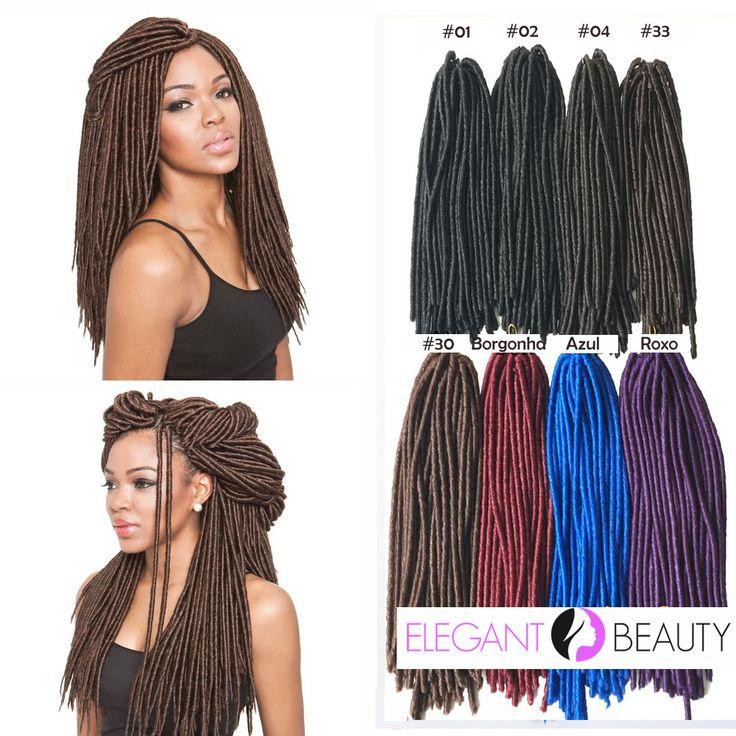Extensões de cabelo Dreadlocks Fauxlocs Crochet Braids Sintético Fibra Kanekalon 15 Fios 46 cm 110 gramas //Price: $73.99 & FREE Shipping